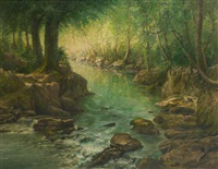 le cours d'eau by gilbert maurice hubin