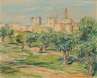 herod's tower, jerusalem by frank milton armington