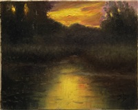 twilight on the charles river by william gurry