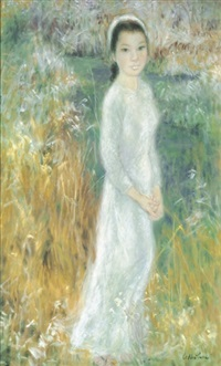 a vietnamese lady in a field by le thi luu