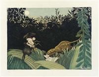 chasse au tigre (by jacques villon) by henri rousseau