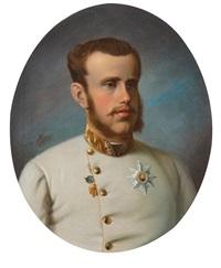portrait de rodolphe françois charles joseph de habsbourg-lorraine archiduc d'autriche by joseph haier