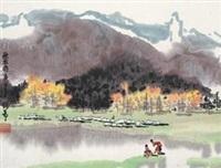 秋牧图 by xu xi