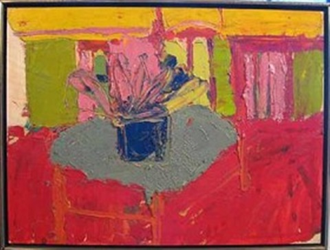 flowers in a vase by jay milder