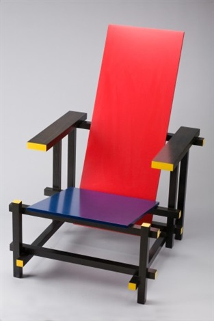 stuhl rot blau by gerrit rietveld on artnet