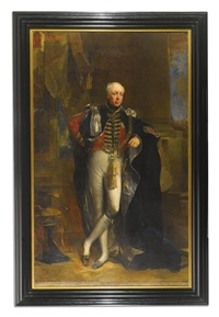 full-length portrait of a gentleman in the robes of the order of the garter by british school (19)