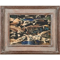 study for watering cove (framed) by barse miller