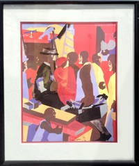 community (study for mural, jamaica ny) by jacob lawrence