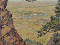view of the broadmoor hotel (from cheyenne mountain) by robert reid