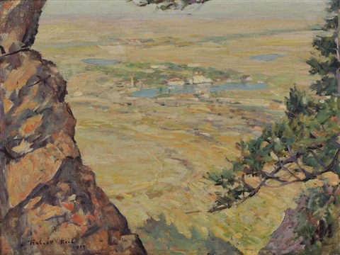 view of the broadmoor hotel from cheyenne mountain by robert reid