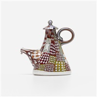 crazy quilt coffeepot by richard marquis