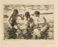 against the current (à contre-courant) by anders zorn