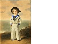 portrait of a boy in a sailor suit by william warman