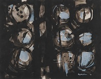 untitled - abstract with circles by gordon adaskin