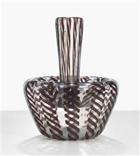 exceptional decorazione crespo vase, model 15999 by vetreria fratelli toso