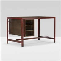desk from the college of architecture, chandigarh by a. r. prabhawalkar and pierre jeanneret