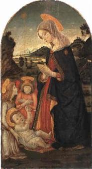 madonna mit kind und zwei engeln by alesso baldovinetti