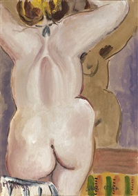 nude in front of a mirror by tatyana alekseevna mavrina