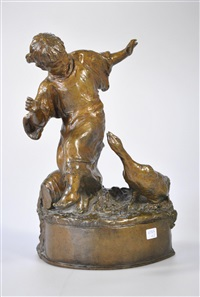 enfant et oie by alfred courtens