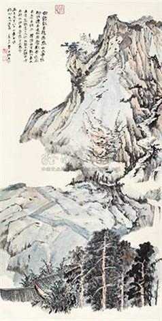 罗浮白鹤观 by zhang daqian
