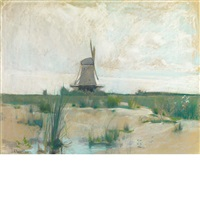 the windmill by john henry twachtman