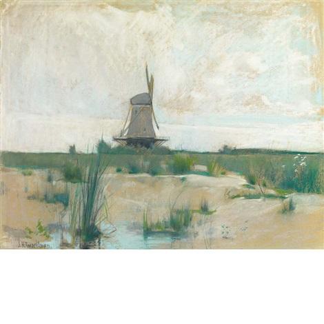 the windmill by john henry twachtman
