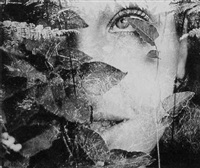 woman's face with leaves by sanne sannes