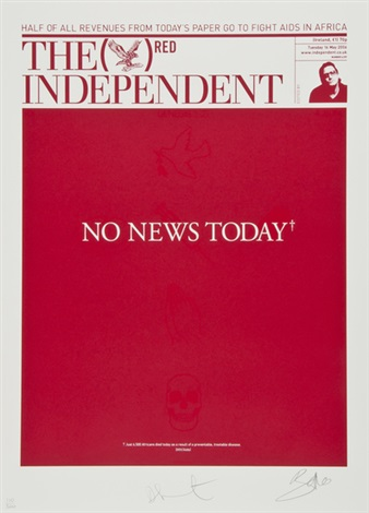 no news today by damien hirst