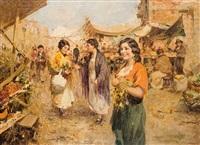 scène de marché by giuseppe pitto