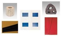 histoire de l'art; composition, composition rouge; composition; il fait beau - a korhogo, a venise, a lucerne, finestère du nord (8 works) by constantin xenakis