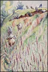 cattle among the fireweed by sybil andrews