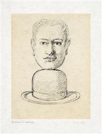 o.t. (homme au chapeau melon), pl. 4 (from le lien de paille) by rené magritte