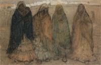 personnages orientalistes by emile gastemans