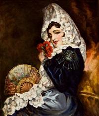 retrato de dama by antonio torres fuster