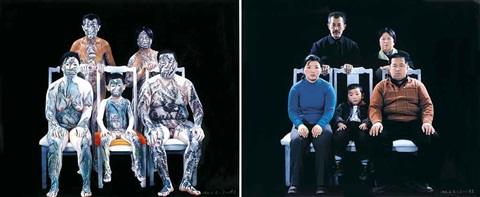model family set of 2 works by huang yan