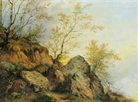 forrevne klipper og birketræer by vinzenz kreuzer