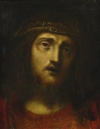 christ with crown of thorns by correggio