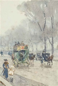 park lane with omnibus by rose maynard barton