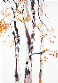 birch trees by nandor mikola