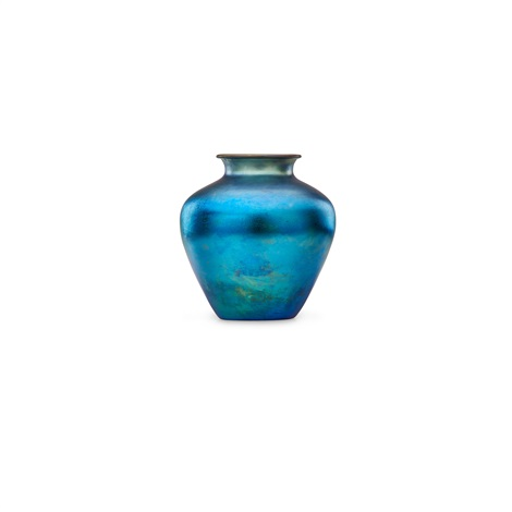 Large Blue Aurene Vase By Steuben Glass On Artnet