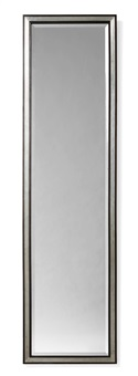 an uno åhrén pewter and black lacquered wood wall mirror by uno åhrén