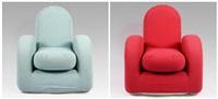 poltrone savoy (savoy armchairs)(2 works) by george j. sowden