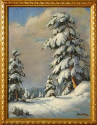 winter landscape by evylena nunn miller