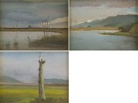 paesaggio (3 works) by marcello tommasi