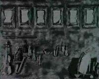 collage mit musikinstrumenten und notenblattern by gerhard jung