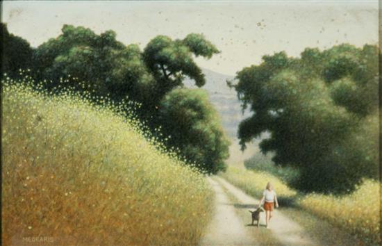 oaks and mustard flowers by roger medearis