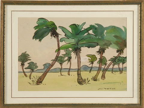 coconut palms by jane peterson