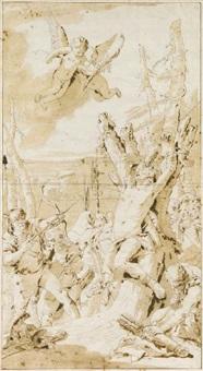 il martirio di san sebastiano by giovanni raggi