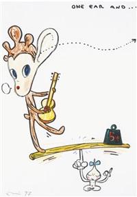 one ear and... by yoshitomo nara