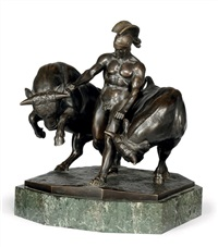 group of a roman soldier w/ two bulls by gladenbeck (co.)